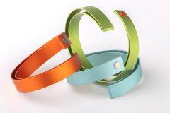 Folded wrap bangles